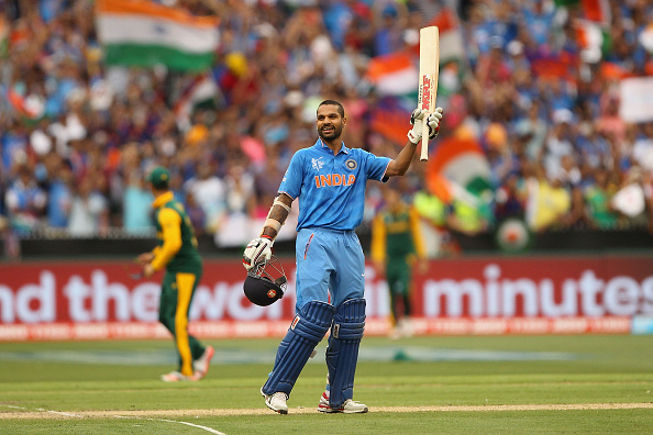Dhawan smashes India to 307