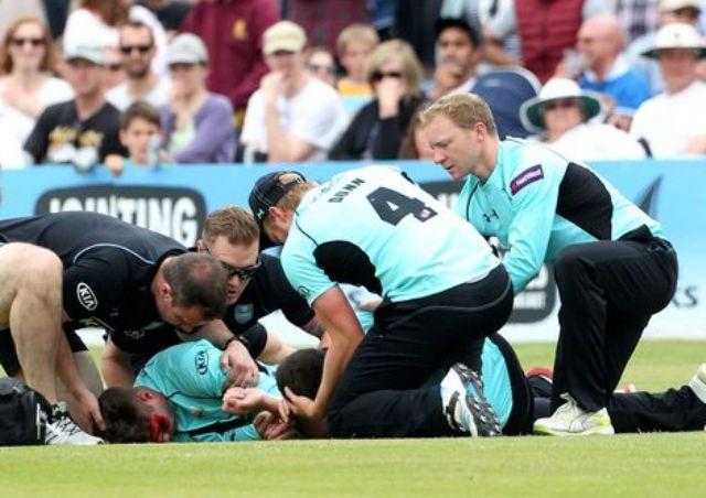 Accident cuts short KP farewell