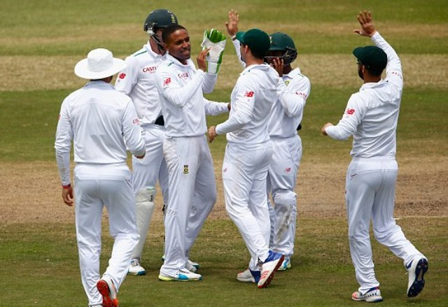 Piedt claims five but England march on