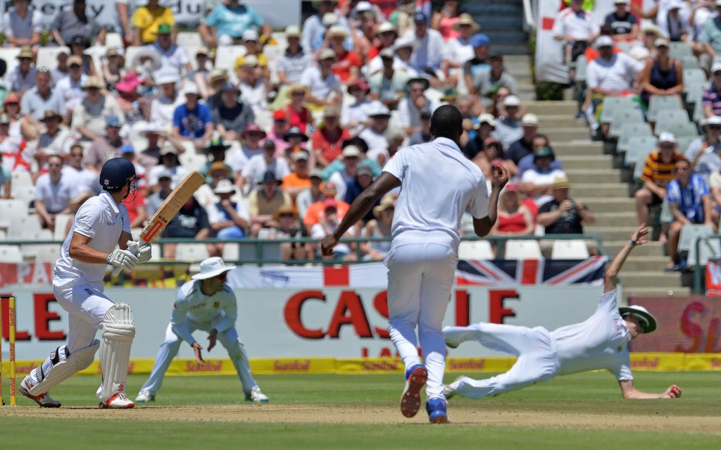 England on top despite late strike