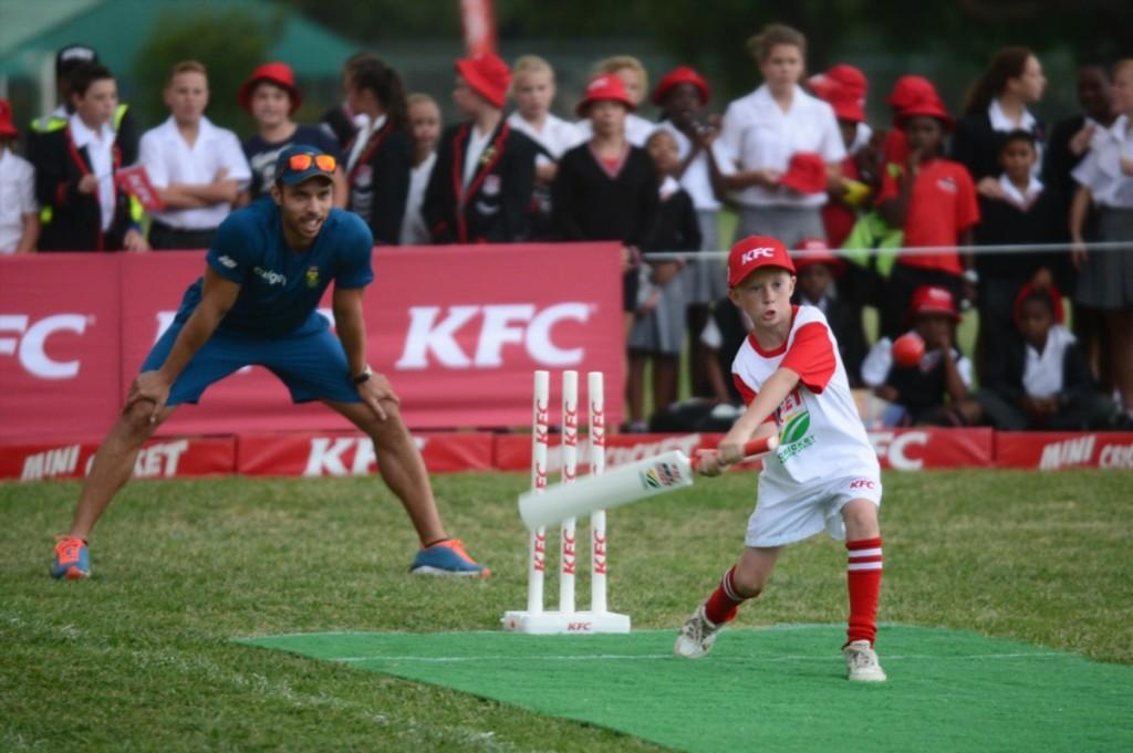 Proteas vs Mini Cricket kids