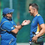 Russell Domingo and Faf du Plessis