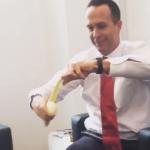 Vaughan pokes fun at England