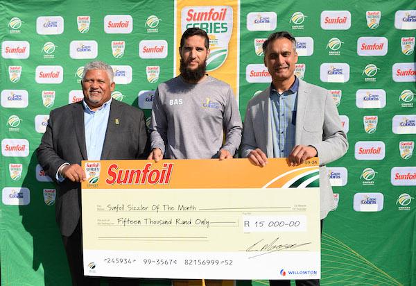 Parnell receives Sunfoil award