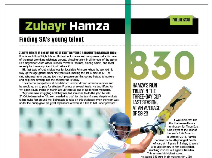 Future Star: Zubayr Hamza
