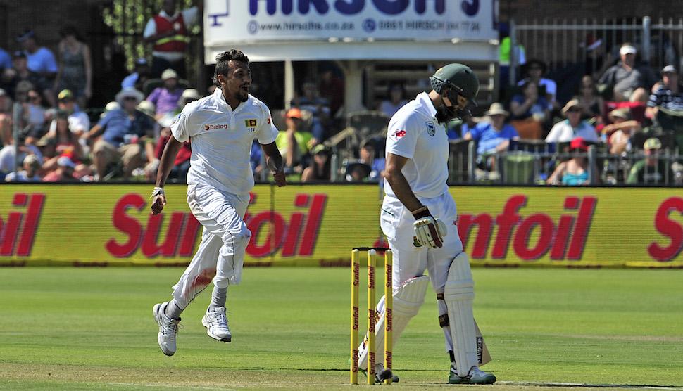 Lakmal checks SA charge