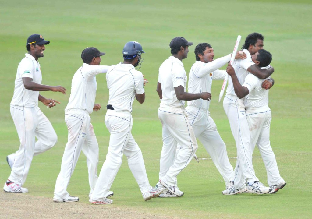 Sri Lanka break their duck