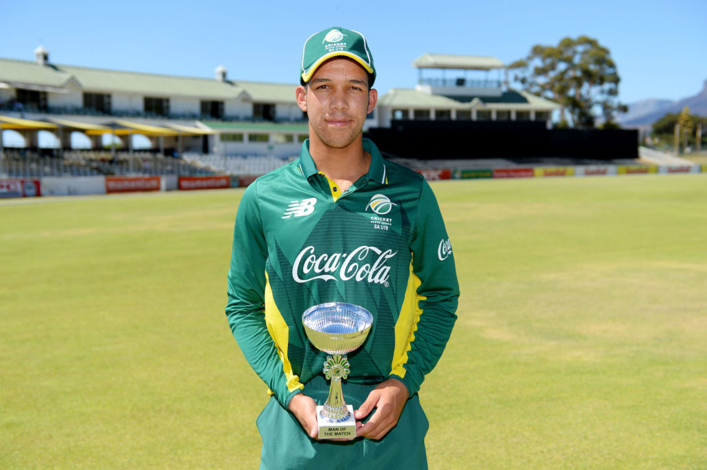 De Klerk sets up SA U19 win
