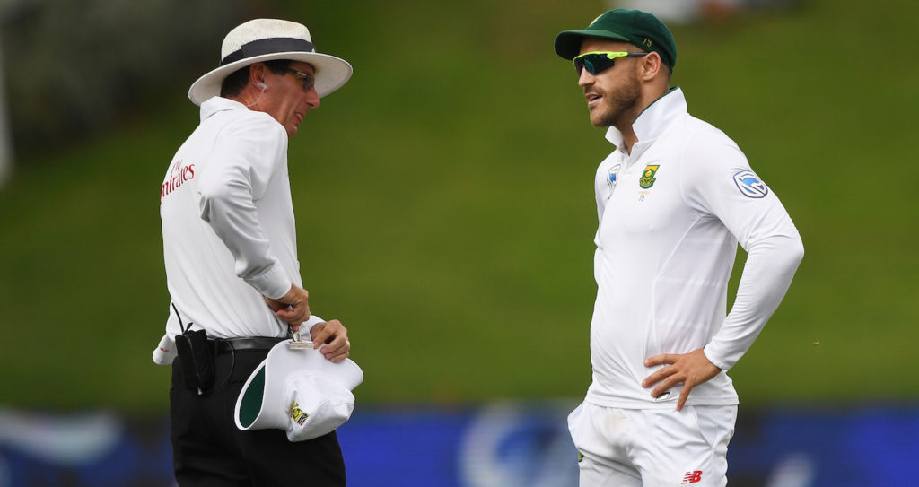 Faf to miss first Test