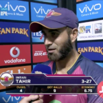 Tahir after taking 3-27 against GL