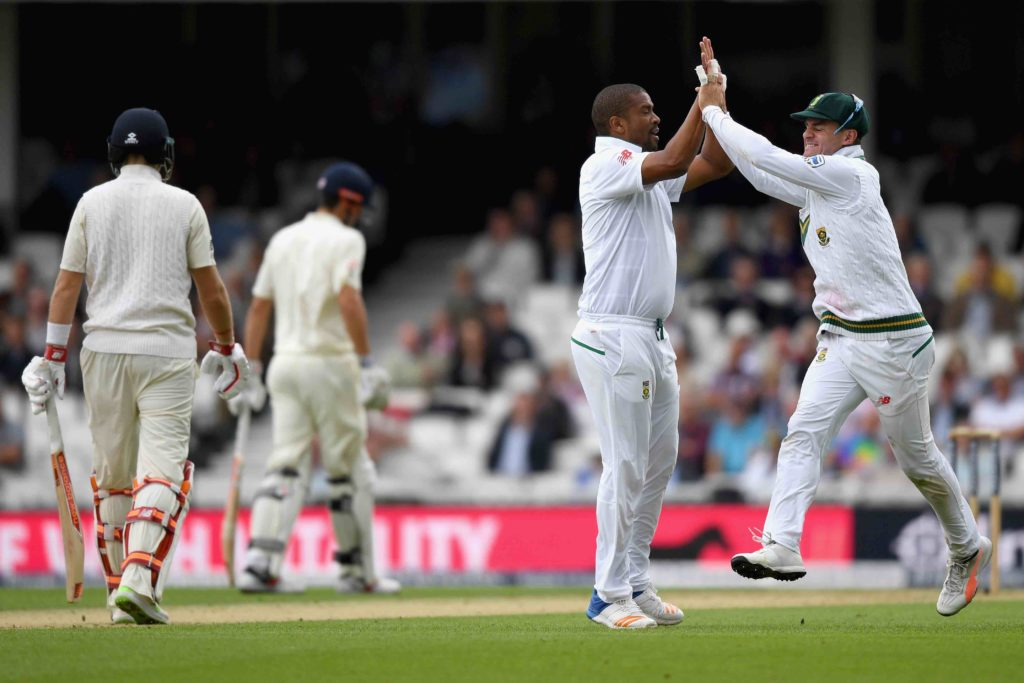 Proteas make inroads as Cook holds firm