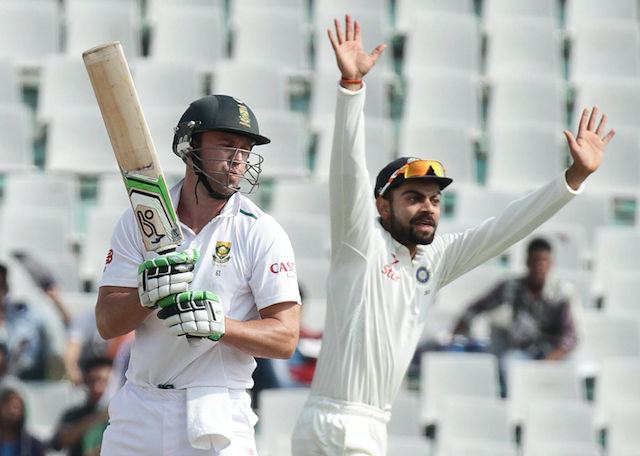 Virat Kohli appeals for AB de Villiers' wicket