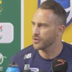 Faf du Plessis press conference