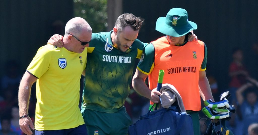 Faf out for six weeks