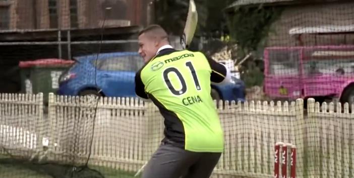 Cena gets a taste of cricket