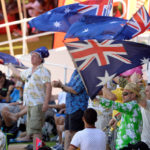 Aussie fans celebrate