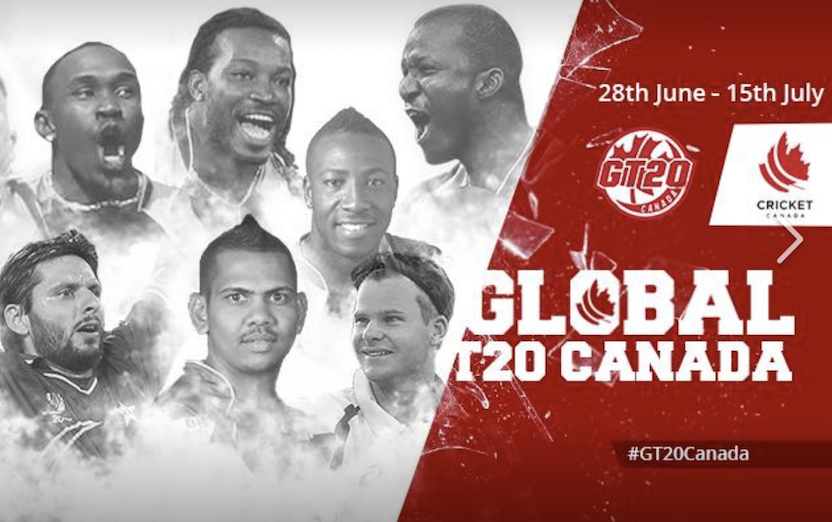 Match schedule unveiled forinaugural Global T20 Canada