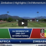 Watch: SA vs Zimbabwe highlights