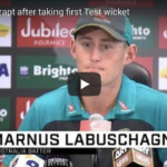 Watch: Labuschagne on first Test wicket