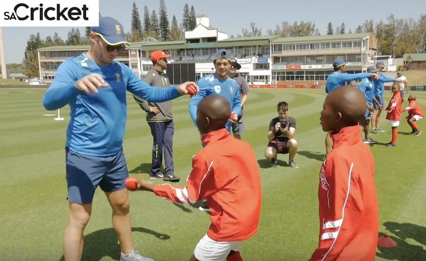 Nomandi Primary kids train with Proteas