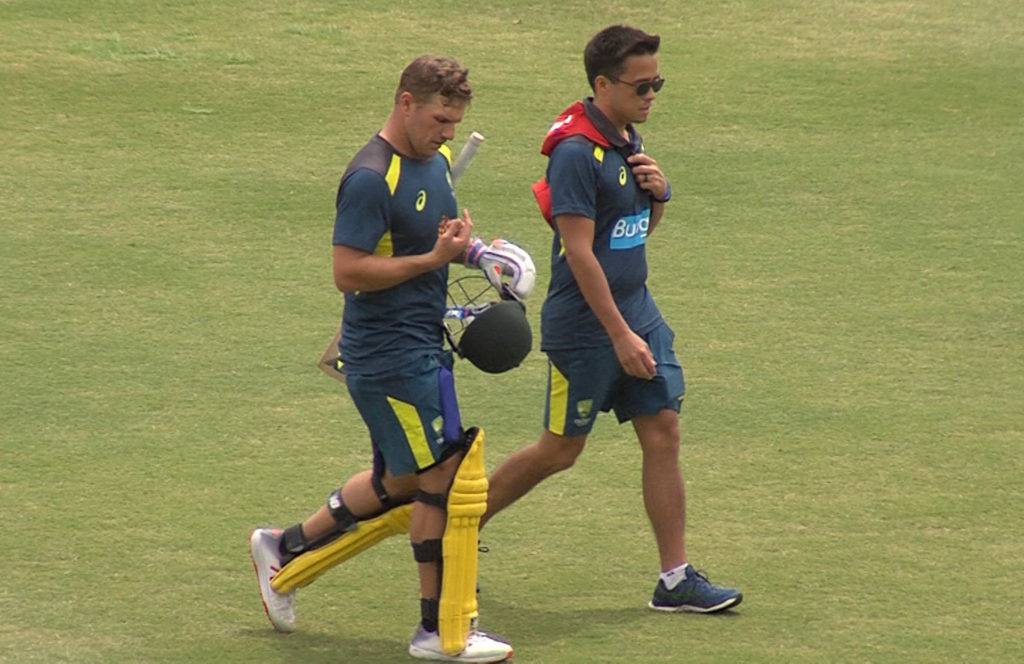 Finch suffers injury scare