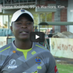 Watch: Grant Mokoena, 99, Knights vs Warriors