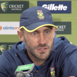 Watch: Faf on his 125 in Hobart
