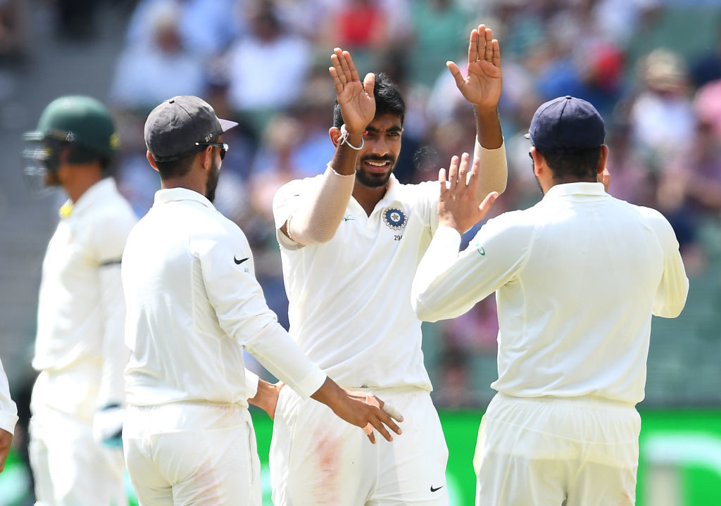 Bumrah bundles Aussies out, India collapse in second dig